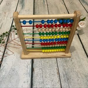 Melisss & Doug Abacus classic toy wooden beads